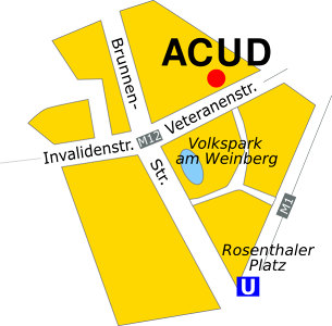ACUD-Theater Stadtplan